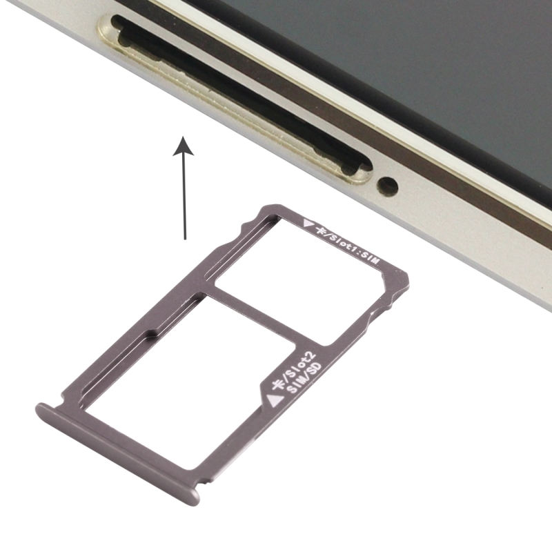 Replacement Huawei Mate S Nano SIM Card Tray + Nano SIM / Micro SD Card Tray (Grey)