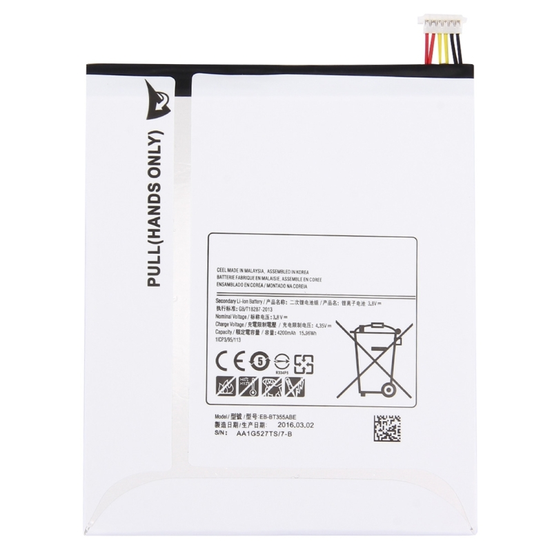 Replacement for Samsung Galaxy Tab A 8.0 / T350 3.8V 4200mAh Rechargeable Li-ion Battery