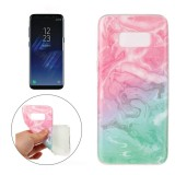 For Samsung Galaxy S8 Pink Green Marble Pattern Soft TPU Protective Case