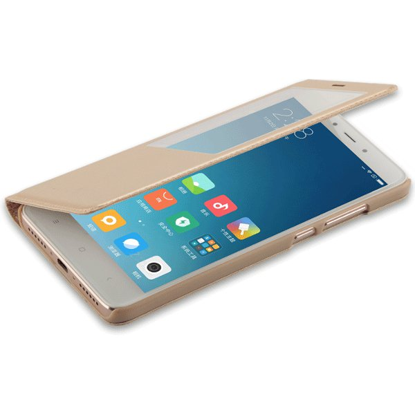 smart window pu leather flip protective case for xiaomi