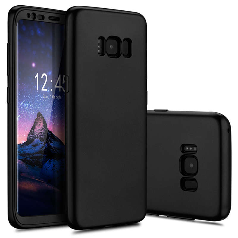 2 in1 360 full body hybrid front pc back soft tpu cover for Housse galaxy s8