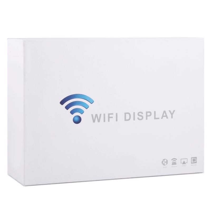 Wireless Dual Band 2 4GHz + 5GHz WiFi Display Multi-screen Interactive with  Remote Controller & Antenna, Support Android & iOS Devices DLNA / Airplay