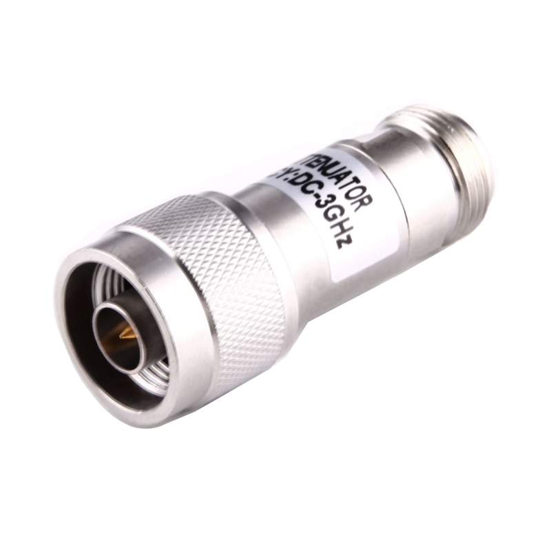 Color : Silver Silver JINYANG Excellent 5W 30dBi N Female to N Male DC-13GHz Frequency Gain Attenuator