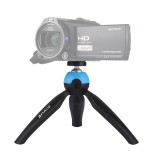 PULUZ Pocket Mini Tripod Mount with 360 Degree Ball Head for Smartphones, GoPro, DSLR Cameras (Blue)