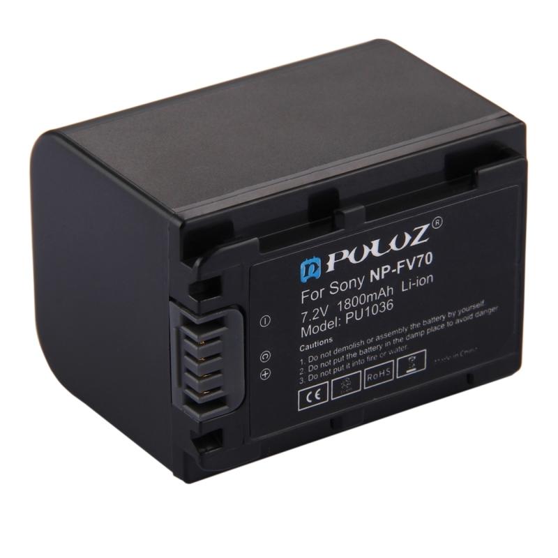 PULUZ NP-FV70 7 2V 1800mAh Li-ion Battery for Sony PJ790 / PJ760 / PJ510 /  PJ390 etc