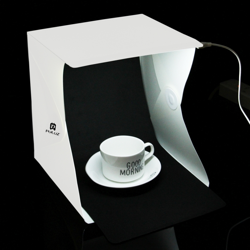 Portable Product Photography Studio With Lighting: PULUZ 20cm Folding Portable Light Photo Lighting Studio