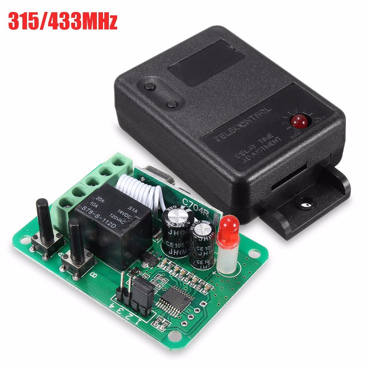 Dc12v 1ch 315 433mhz Wireless Time Delay Relay Rf Remote Control The Equipment Is Mode You 355a0592 B8ba 4356 89a3 5b5ac8adfd95