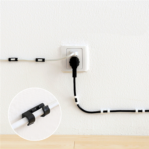 20 Pcs Wire Cable Holder Clip Winder Cable Organizer Management ...