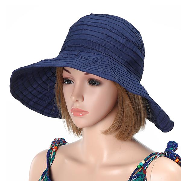9911166112e Women Foldable Sun Protective Beach Hat Summer Outdoor Gardening ...