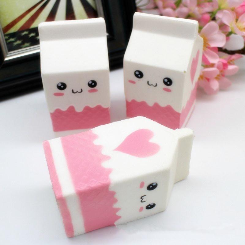 Squishy Mushy Box : Squishy Jumbo Pink Milk Bottle Box 11cm Slow Rising Soft Collection Gift Decor Toy Alex NLD