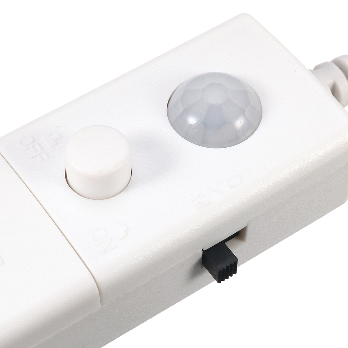 battery operated 1m led wireless pir motion sensor wardrobe cabinet strip light. Black Bedroom Furniture Sets. Home Design Ideas