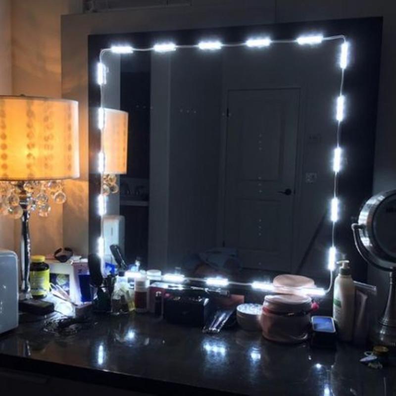 3m waterproof smd5630 led white mirror makeup module strip light remote con. Black Bedroom Furniture Sets. Home Design Ideas