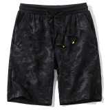 Summer Stylish Printing Fifth Board Shorts Men's Elastic Breathable Sandy Beach Shorts