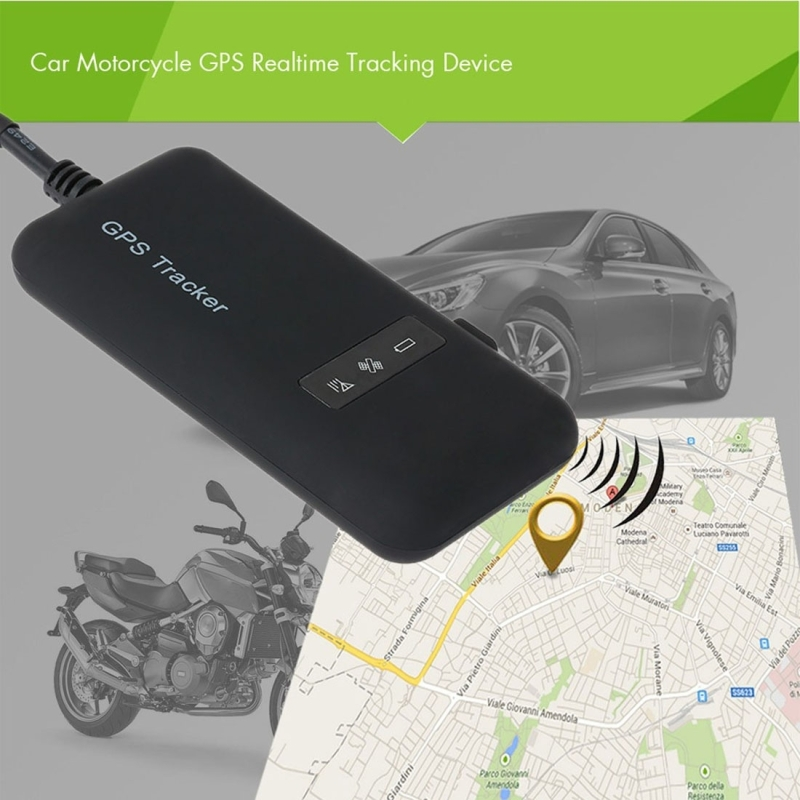 Car Motorcycle GPS Smart Realtime Tracking Device With LED Indicator Light,  Built-in GSM Antenna and GPS Antenna (Black)