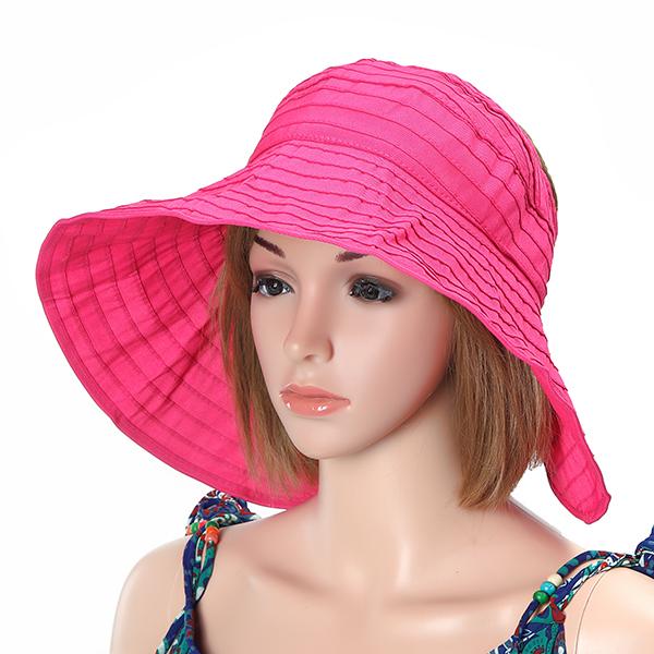 ba07e45a7575e Women Foldable Sun Protective Beach Hat Summer Outdoor Gardening ...