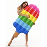 Inflatable Popsicle Shaped Floating Mat Swimming Ring, Inflated 145 x 46cm