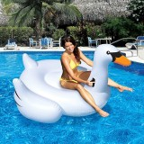 Inflatable Swan Shaped Floating Mat Swimming Ring, Inflated 150 x 150 x 130cm