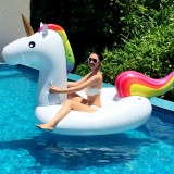 Inflatable Unicorn Shaped Floating Mat Swimming Ring, Inflated 275 x 140 x 120cm
