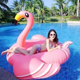 Inflatable Flamingo Shaped Floating Mat Swimming Ring, Inflated 190 x 200 x 130cm