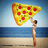 Inflatable Pizza Slice Shaped Floating Mat Swimming Ring, Inflated 180 x 160cm