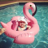 Inflatable Flamingo Shaped Baby Swimming Ring, Inflated 100 x 105 x 60cm