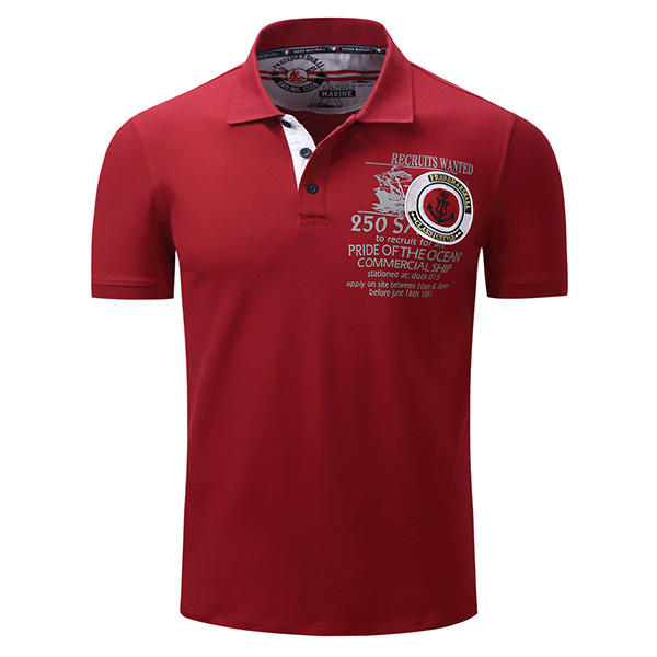 Spring Summer Leisure Business POLO Shirt Men's Fashion Embroidery Printing Short Sleeve T-shirts