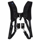 PULUZ Quick Release Double Harness Soft Pad Decompression Foam Shoulder Strap Belt for DSLR Cameras