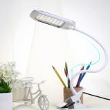 DC5V 5W 12LED Clip Light Type Desk Clamp Lamp Dimming Reading Eye-care USB Table Lights