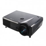 VS-508 Mini Projector 2000ANSI LM LED 800×480 VGA Multimedia Video Projector, Support VGA / HDMI / USB /TV Interfaces, Projecting Distance: 1-5m (Black)