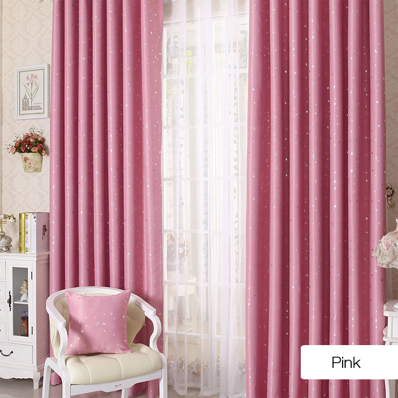Honana WX-C13 Sky Star Blackout Curtains Thermal Insulated Grommets ...