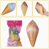 Vlampo Squishy Rainbow Ice Cream Cone Slow Rising Original Packaging Collection Gift Decor Toy