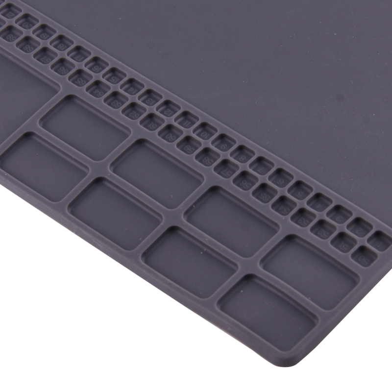 OSS Team Maintenance Platform High Temperature Heat-resistant Magnetic Anti-static Repair Insulation Pad Silicone Mats, 35 x 25cm (Grey)