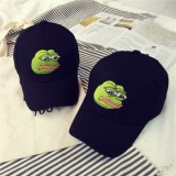 Men Women Sad Frog Embroidery Baseball Cap Summer Sun-shade Snapback Hip Hop Baseball Hat