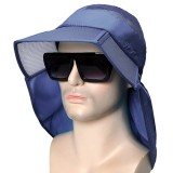 Mens Summer Breathable Folding Sun Hat Wide Brim Visor Bucket Hat Outdoor Sport Anti-UV Fishing Hat