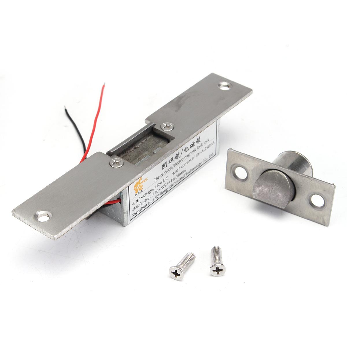 12v electric strike lock fail safe nc cathode for access for 12v electric door strike