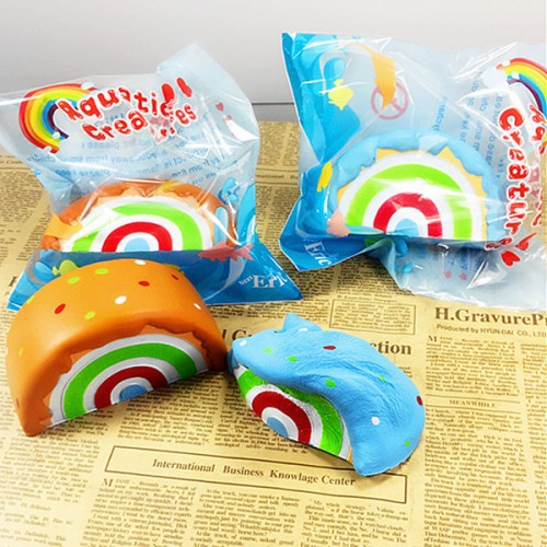 Eric Squishy Rainbow Cake 10cm Slow Rising Original Packaging Collection Gift Decor Toy Alex NLD