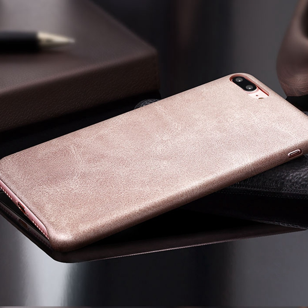Bakeey™ Retro Soft PU Leather Ultra-thin Shockproof Case Back Cover For iPhone 7 Plus 5.5 Inch