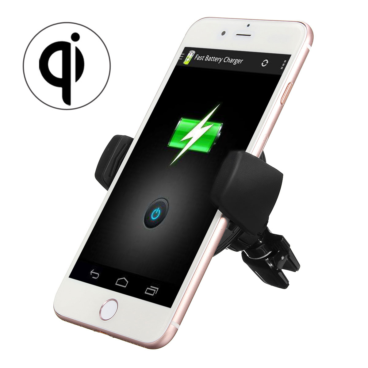 Qi Wireless Air Vent Car Mount Charger Dock Mount Holder ...