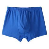 Pure Color Loose Soft Skin-friendly Breathable Cotton Big Boxers Briefs Underwear for Men