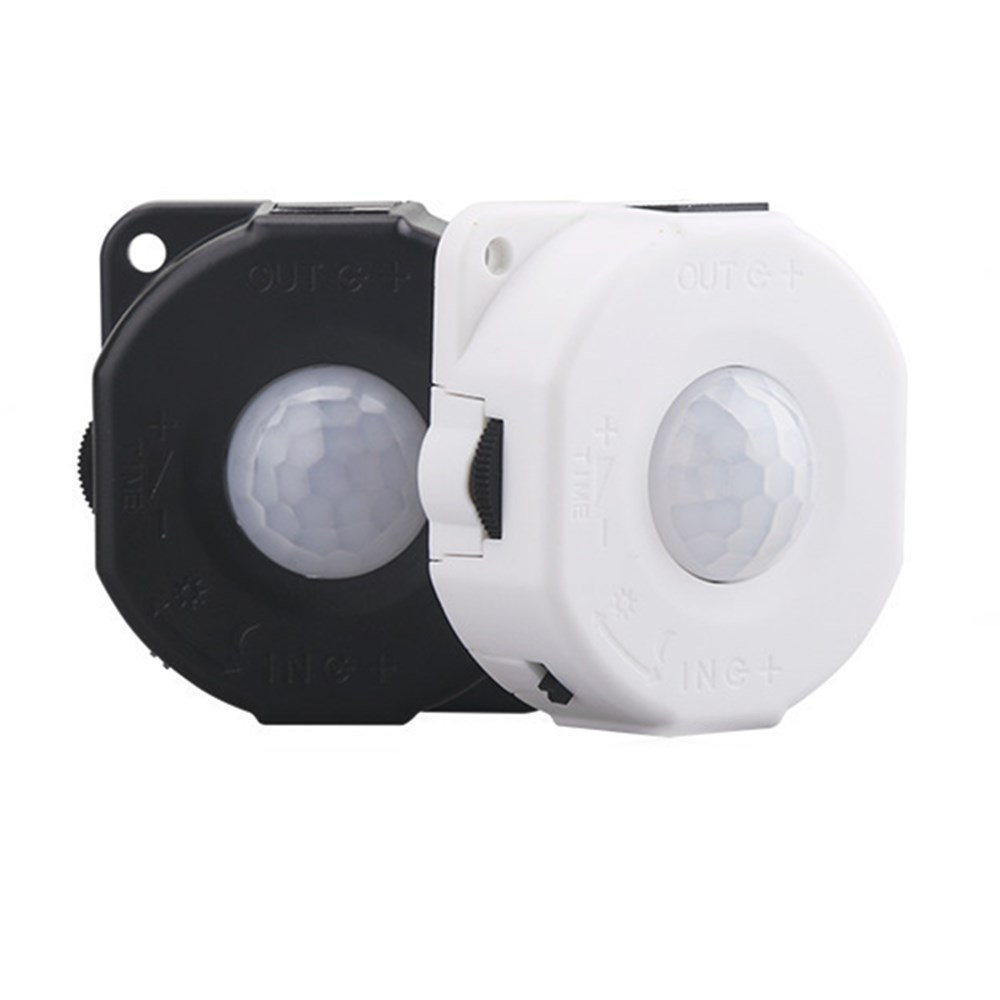 Dc12v 24v Multifunctional Pir Human Motion Sensor Time Delay Switch Delayed Off Light For Led Lighting