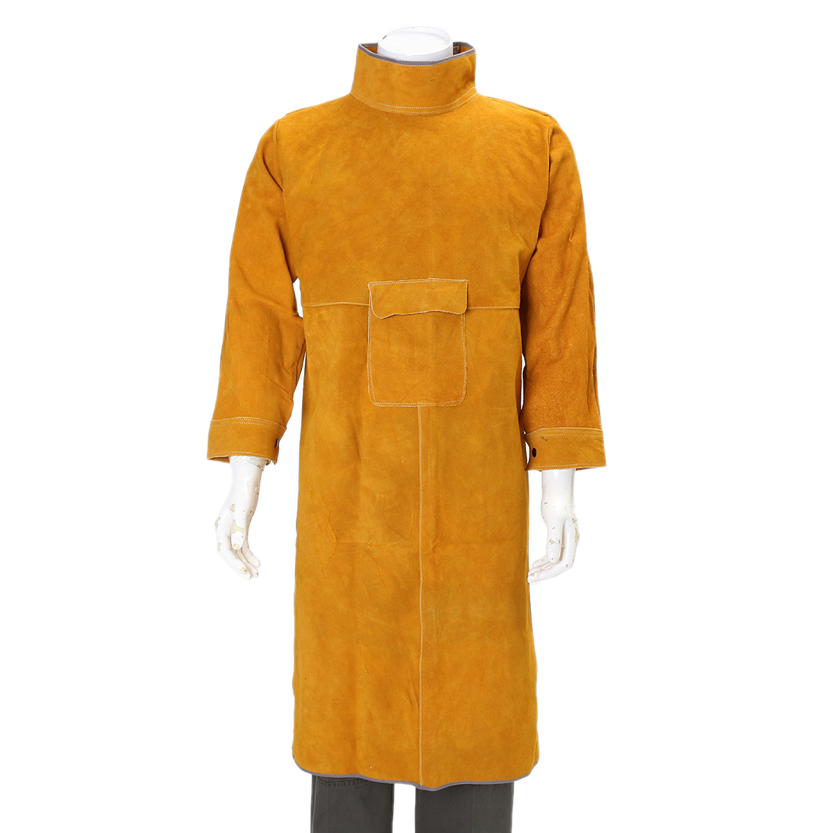 Durable Leather Welding Clothes Long Coat Apron Protective Clothing Apparel | Alex NLD