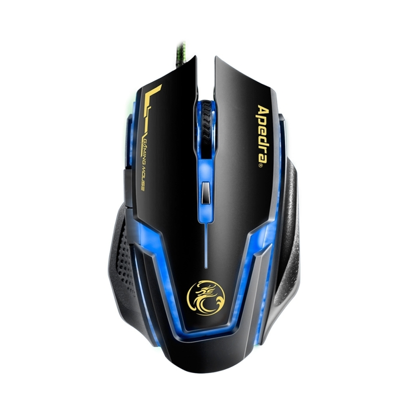 Apedra Imice A9 High Precision Gaming Mouse Led Four Color