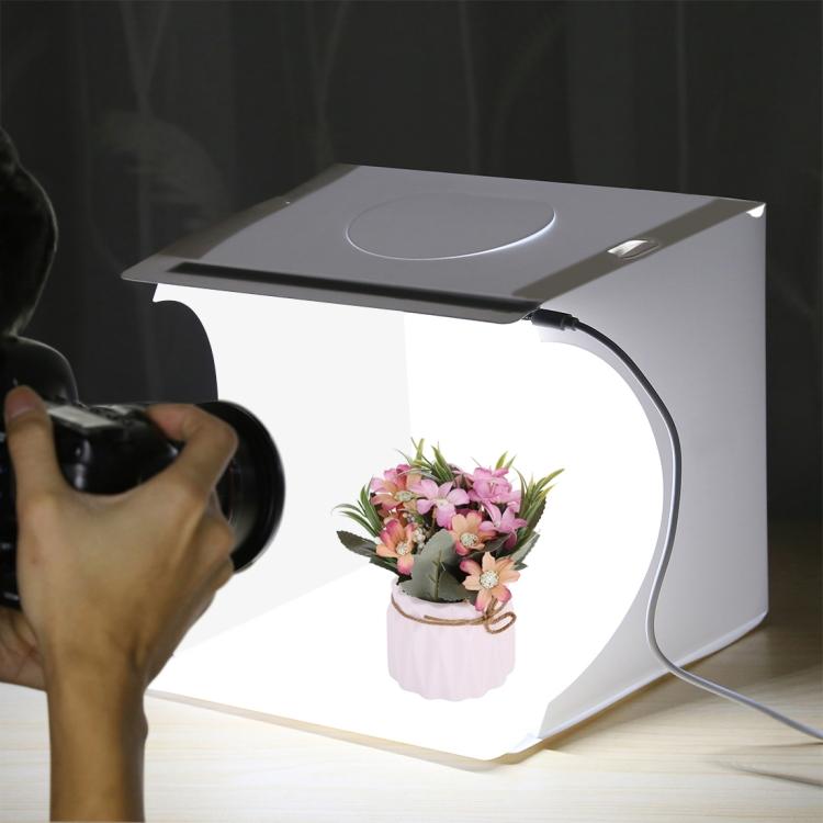 PULUZ 20cm Folding Portable 550LM Light Photo Lighting Studio Shooting Tent Box Kit with 6 Colors Backdrops (Black, White), 24cm x 23cm x 22cm