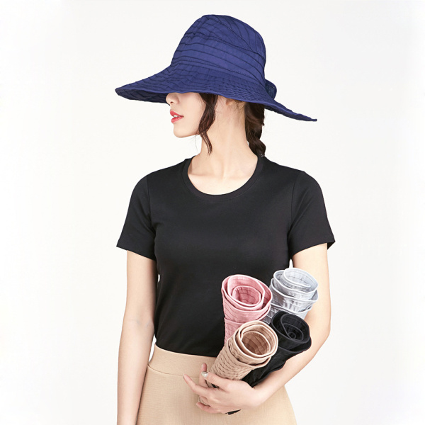 0f5a707bdf49c Anti-UV Women Folding Beach Sun Hat Wide Brim Face Nack Protactive Outdoor  Gardening Visor Cap