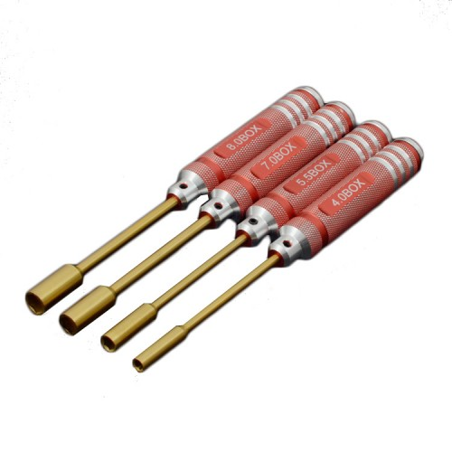 4Pcs ONERC HSS Titanium Hex Screwdriver Nut Key Socket Driver Set H4.0/H5.5/H7.0/H8.0