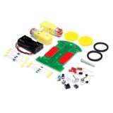 3PCS Tracking Robot Car Electronic DIY Kit With Reduction Motor