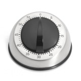 Stainless Steel Dome 60-Minute Kitchen Timer Countdown Mechanical Wind Up Clock