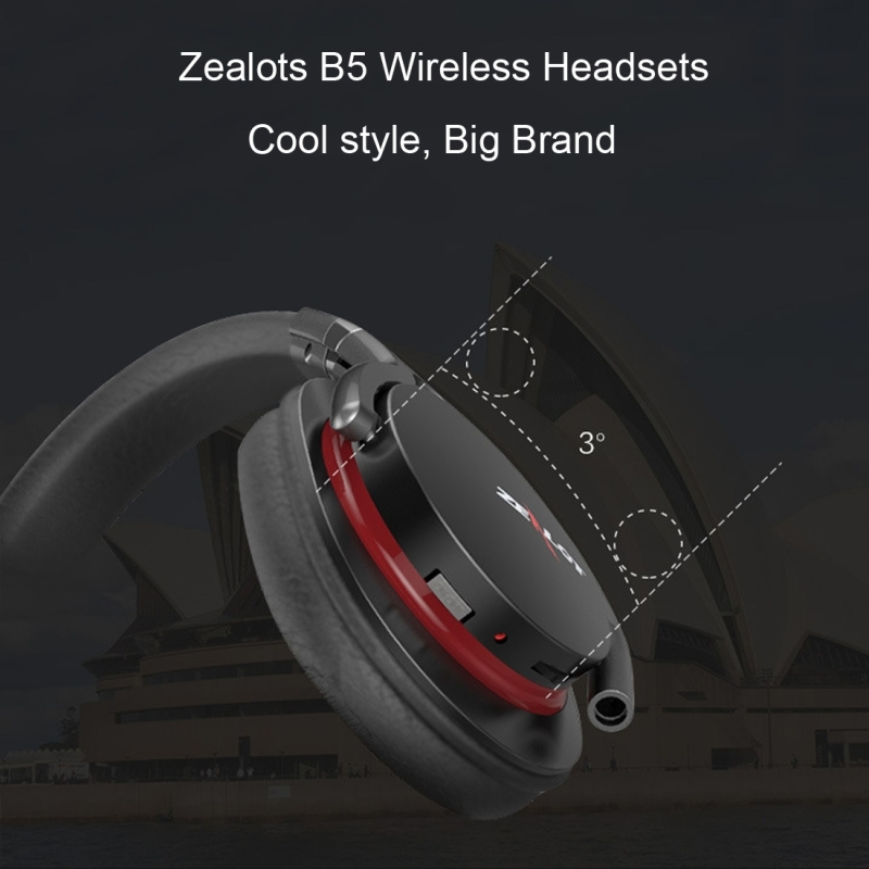 Zealot B5 Headband Bluetooth Stereo Music Headset with Handsfree Call Function for iPhone / Samsung / LG / HTC / Nokia / Blackberry Mobile Phone (Red)