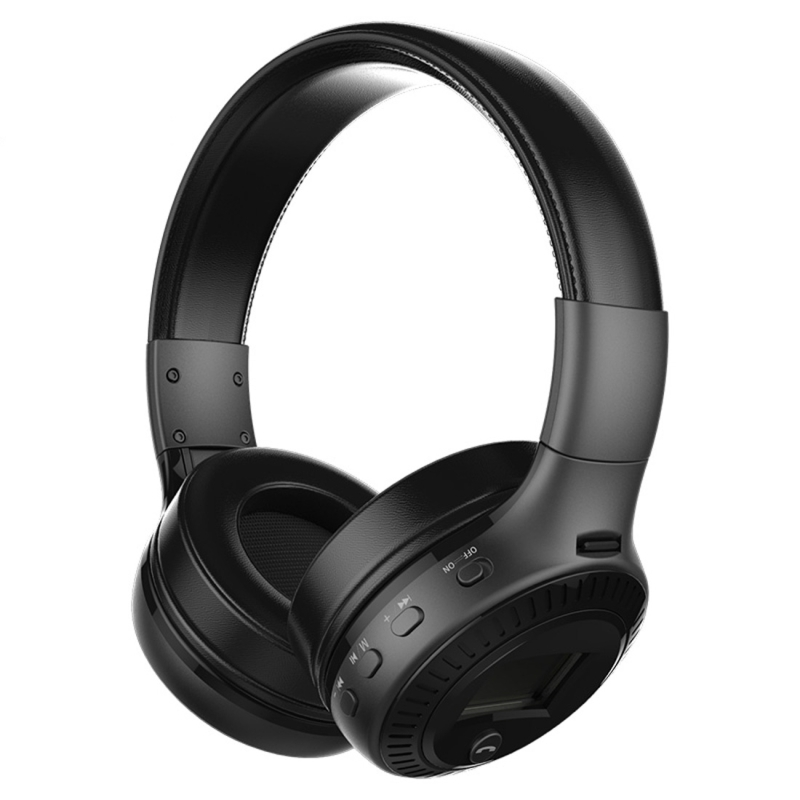 Zealot B19 Folding Headband Bluetooth Stereo Music Headset with Display & Handsfree Call Function for iPhone / Samsung / LG / HTC / Nokia / Blackberry Mobile Phone (Black)