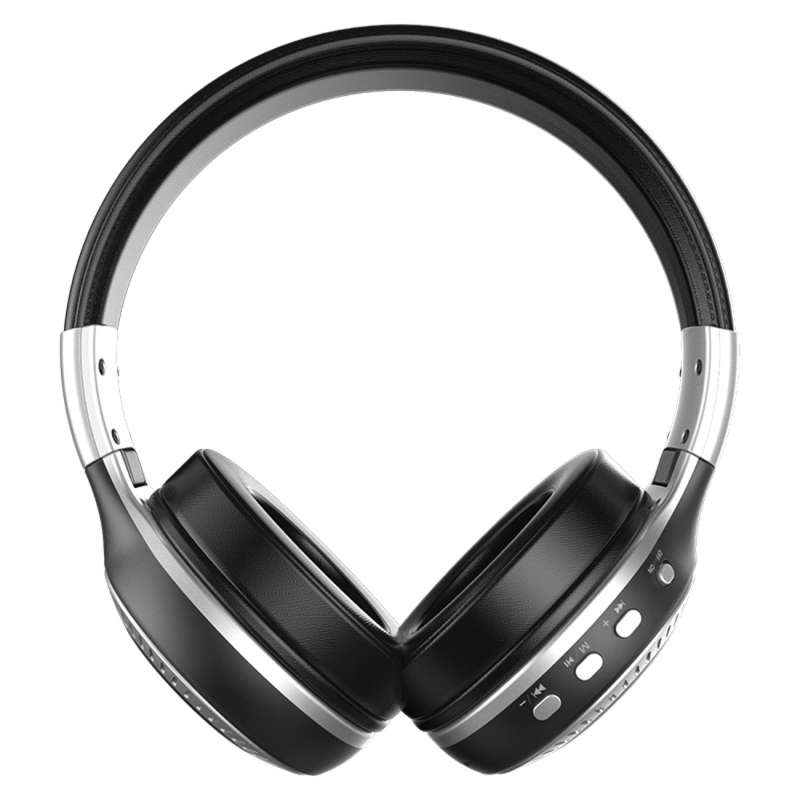 Zealot B19 Folding Headband Bluetooth Stereo Music Headset with Display & Handsfree Call Function for iPhone / Samsung / LG / HTC / Nokia / Blackberry Mobile Phone (Silver)